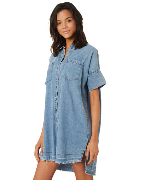 THRIFTED BLUE WOMENS CLOTHING RUSTY DRESSES - DRL0955THB