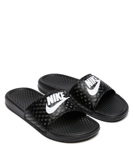 BLACK WOMENS FOOTWEAR NIKE SLIDES - 343881-011