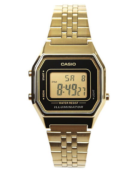 GOLD BLACK MENS ACCESSORIES CASIO WATCHES - LA680WGA-1DGLDBL