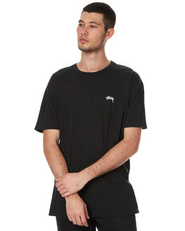 PIGMENT BLACK MENS CLOTHING STUSSY TEES - ST077000PBLK