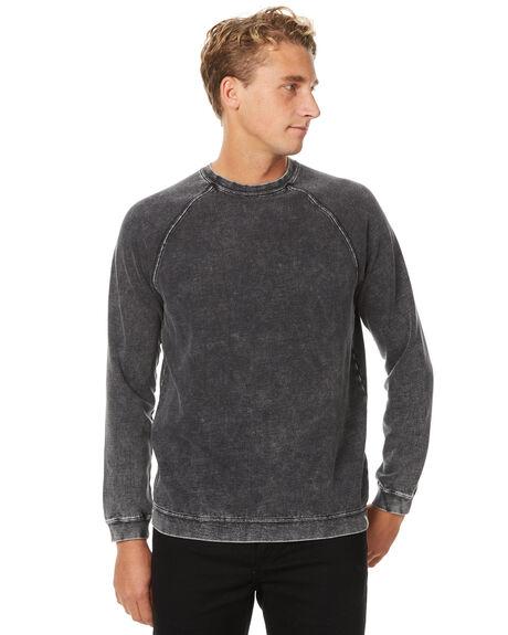 BLACK MENS CLOTHING RVCA JUMPERS - R371151BLK