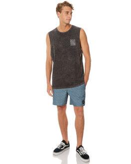BLACK ACID MENS CLOTHING RVCA SINGLETS - R171001BACID