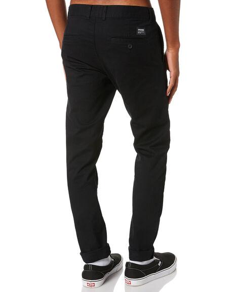 BLACK MENS CLOTHING DR DENIM PANTS - 2010113101BLK