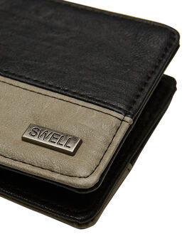 BLACK GREY MENS ACCESSORIES SWELL WALLETS - S51841582BLKGY