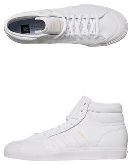 WHITE WHITE MENS FOOTWEAR ADIDAS ORIGINALS HI TOPS - SSCQ1122WHIM