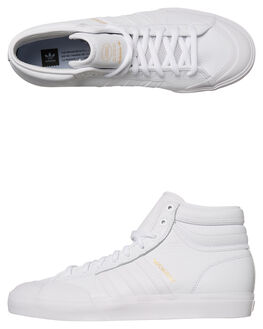 WHITE WHITE WOMENS FOOTWEAR ADIDAS ORIGINALS HI TOPS - SSCQ1122WHIW