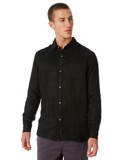 BLACK OUTLET MENS SWELL SHIRTS - S5184180BLACK
