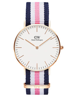 ROSE GOLD BLUE PIWH WOMENS ACCESSORIES DANIEL WELLINGTON WATCHES - DW00100034BPW