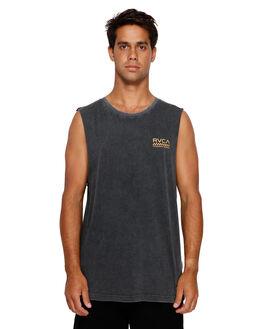 BLACK ACID MENS CLOTHING RVCA SINGLETS - RV-R191012-252