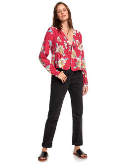 DEEP CLARET SEPT WOMENS CLOTHING ROXY FASHION TOPS - ERJWT03336-RQH6