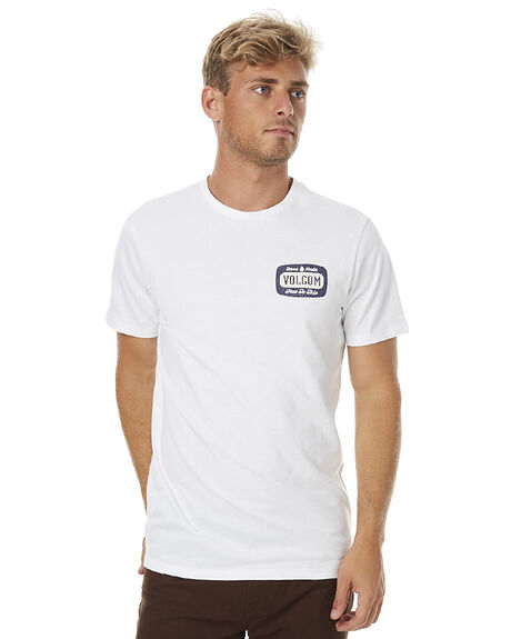 WHITE MENS CLOTHING VOLCOM TEES - A5011711WHT