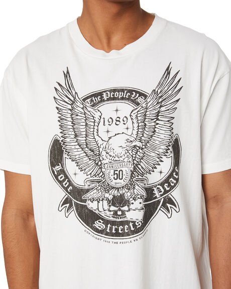 VINTAGE WHITE OUTLET MENS THE PEOPLE VS TEES - HS20M013VNWT