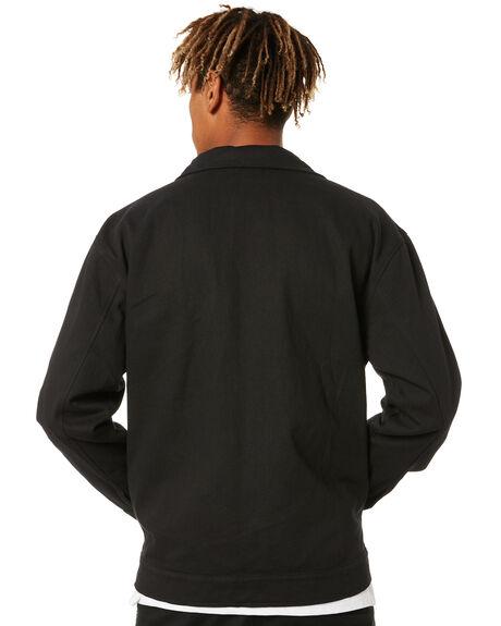 BLACK MENS CLOTHING PASS PORT JACKETS - PPDELIVERYJBLK
