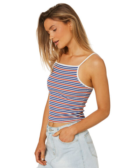 RED BLUE WOMENS CLOTHING ALL ABOUT EVE SINGLETS - 6405152STR