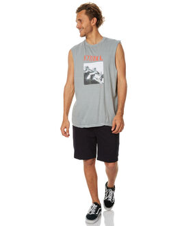 FADED GREY MENS CLOTHING THRILLS SINGLETS - TS7-126CFGRY