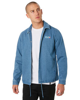 INDIGO MENS CLOTHING HUF JACKETS - JK00149-INDIG