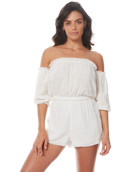 WHITE WOMENS CLOTHING RUE STIIC PLAYSUITS + OVERALLS - SO1707YWHT