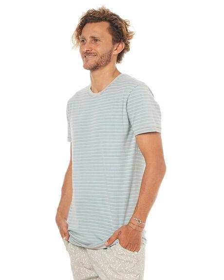 INDIGO STRIPE MENS CLOTHING RUSTY TEES - TTM1711IGS