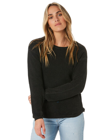 BLACK WOMENS CLOTHING ALL ABOUT EVE KNITS + CARDIGANS - 6453060BLK