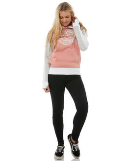 RUST PINK HEATHER WOMENS CLOTHING HURLEY JUMPERS - AGFLPHLKH6GM