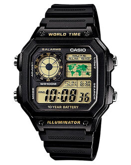 BLACK GOLD MENS ACCESSORIES CASIO WATCHES - AE1200WH-1BBLKG