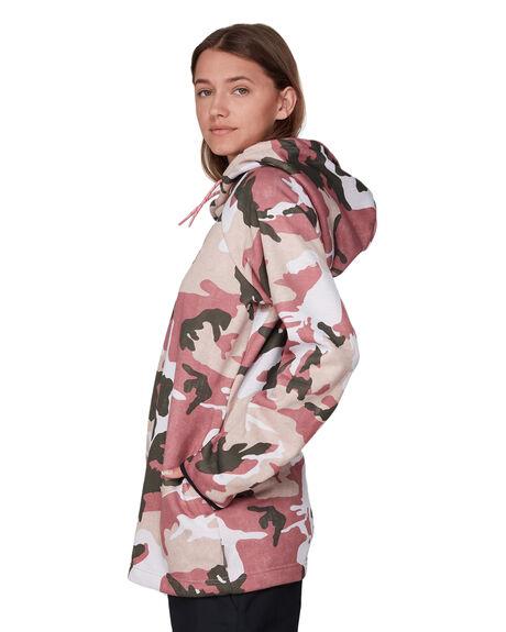 DUSTY ROSE CAMO WOMENS CLOTHING DC SHOES HOODIES + SWEATS - EDJFT03063-MKP6