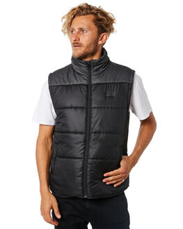 BLACK MENS CLOTHING RIP CURL JACKETS - CJKEK10090