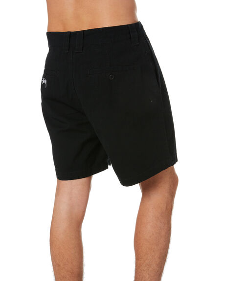BLACK MENS CLOTHING STUSSY SHORTS - ST002604BLACK