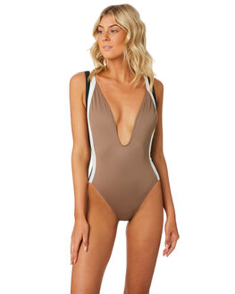 CEDAR WOMENS SWIMWEAR SOLID AND STRIPED ONE PIECES - WS-2012-1432CED