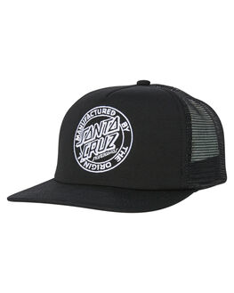 BLACK MENS ACCESSORIES SANTA CRUZ HEADWEAR - SC-MCC8965BLK