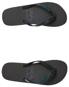 BLACK BLUE MENS FOOTWEAR BILLABONG THONGS - 9681939BLKBL