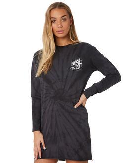BLACK WOMENS CLOTHING RUSTY DRESSES - DRL0972BLK