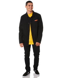 BLACK MENS CLOTHING SANTA CRUZ JACKETS - SC-MSA9135BLK
