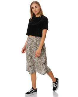 LEOPARD WOMENS CLOTHING VOLCOM SKIRTS - B1441900LEO