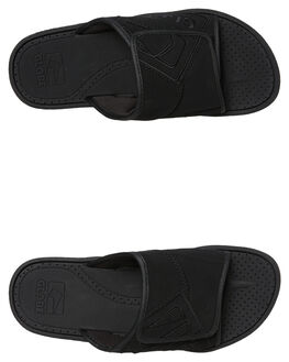 BLACK OUTLET MENS GLOBE SLIDES - GBFOCBLS10006