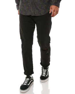 BLACK SMOKE TRASH MENS CLOTHING ZIGGY JEANS - ZM-1312BKSMT