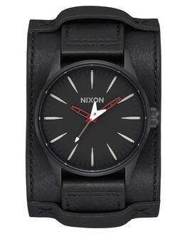 BLACK RED MENS ACCESSORIES NIXON WATCHES - A1053332-002