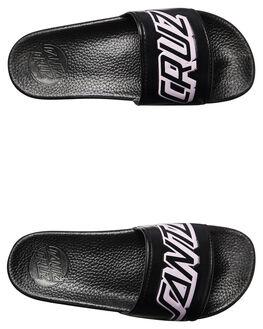 BLACK WOMENS FOOTWEAR SANTA CRUZ SLIDES - SC-WYC7410BLK