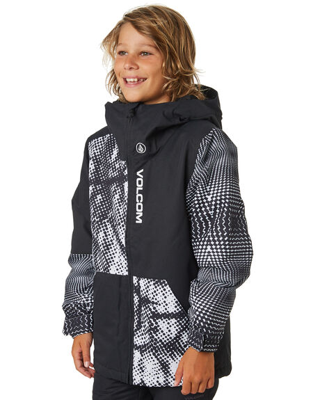 BLACK WHITE BOARDSPORTS SNOW VOLCOM BOYS - I0451902BWH