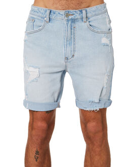BLUE TRASHED MENS CLOTHING INSIGHT SHORTS - 1000082027BLTR