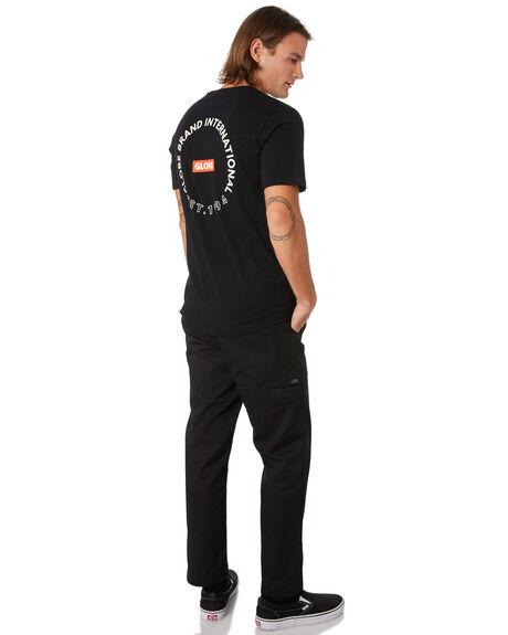 BLACK MENS CLOTHING GLOBE TEES - GB01930028BLK