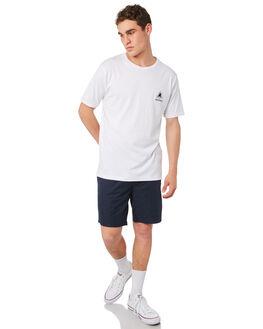 WHITE MENS CLOTHING BARNEY COOLS TEES - 129-CR4WHT