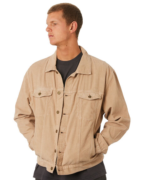 OVERDYED TAN MENS CLOTHING THRILLS JACKETS - TDP-234OCOVTAN