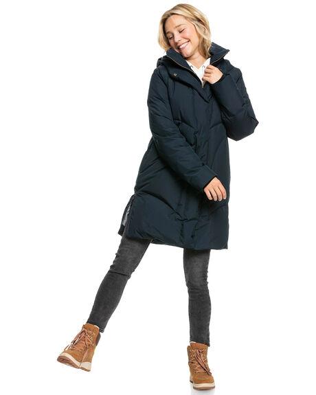 TRUE BLACK WOMENS CLOTHING ROXY JACKETS - ERJJK03427-KVJ0
