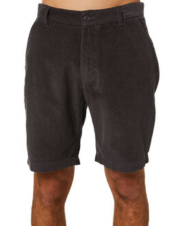 WASHED CORD BLACK MENS CLOTHING BARNEY COOLS SHORTS - 606-Q120WCBLK