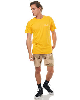 YELLOW MENS CLOTHING POLAR SKATE CO. TEES - STROKEYLW
