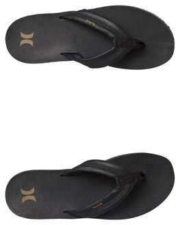 BLACK MENS FOOTWEAR HURLEY THONGS - AR4006010