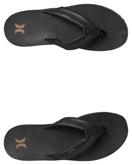 BLACK MENS FOOTWEAR HURLEY THONGS - AR4006010