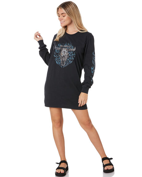 VINTAGE BLACK WOMENS CLOTHING THE PEOPLE VS DRESSES - W20W019VBLK