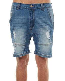 LINCOLN BLUE MENS CLOTHING NENA AND PASADENA SHORTS - NPMFS002LNCB